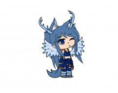 Wolf gamer Girl