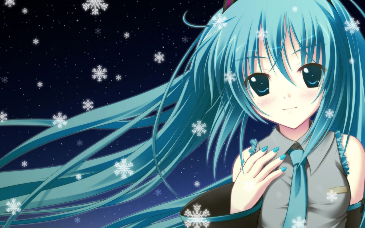 Photo Anime Wallpapers Blue Anime Girl Wallpaper 36992 In The