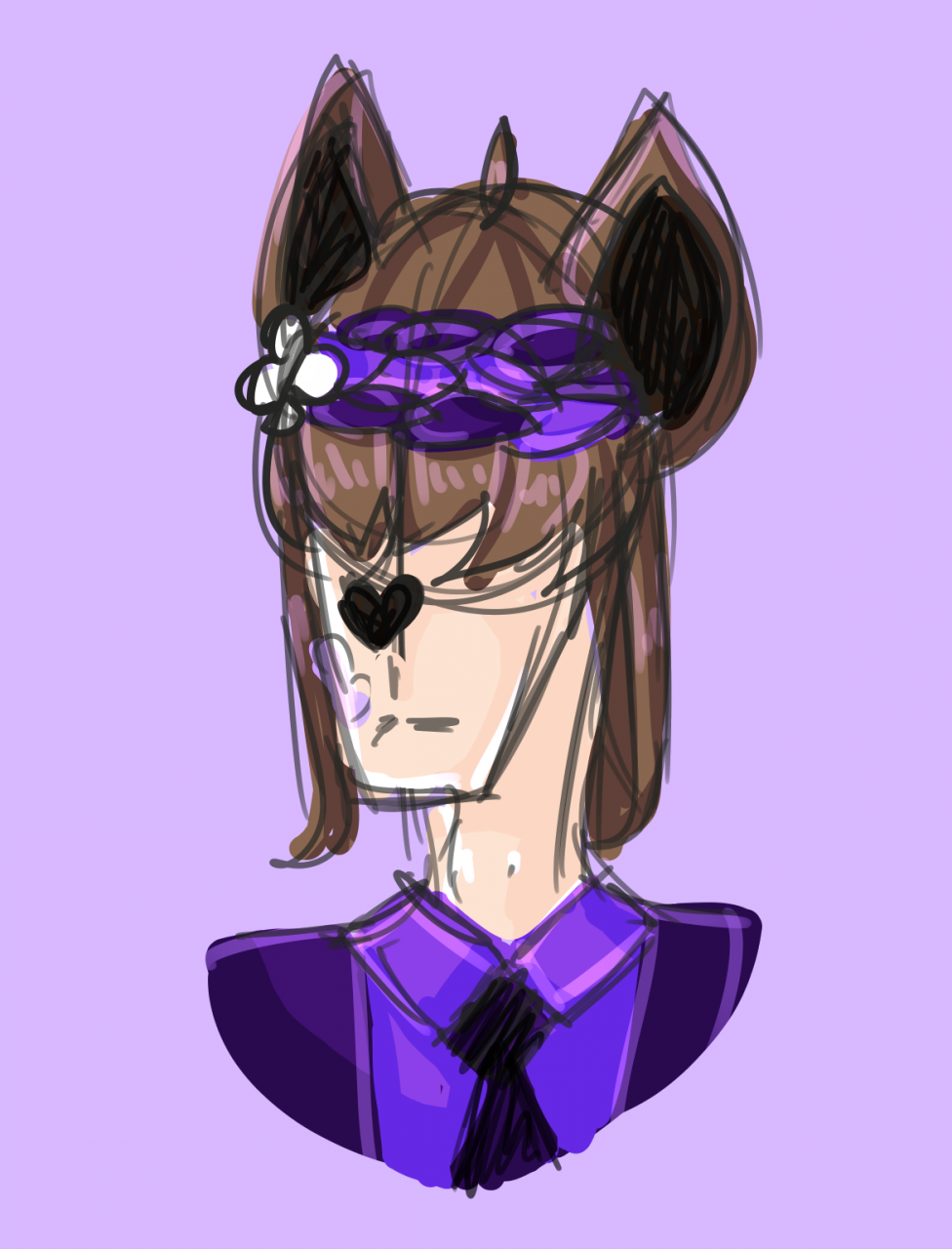 A sketchy headshot of one of my fan-made units uvu <br /> <br /> Here's the fullbody: <br...