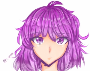 Practicing shading hair XD