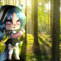 Me in a forest uwu