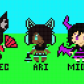Girls of the Canvas! ... but now they're pixel art...